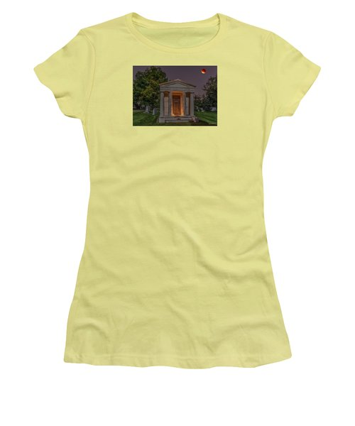 Swallow Mausoleum Under The Blood Moon Women's T-Shirt (Athletic Fit)
