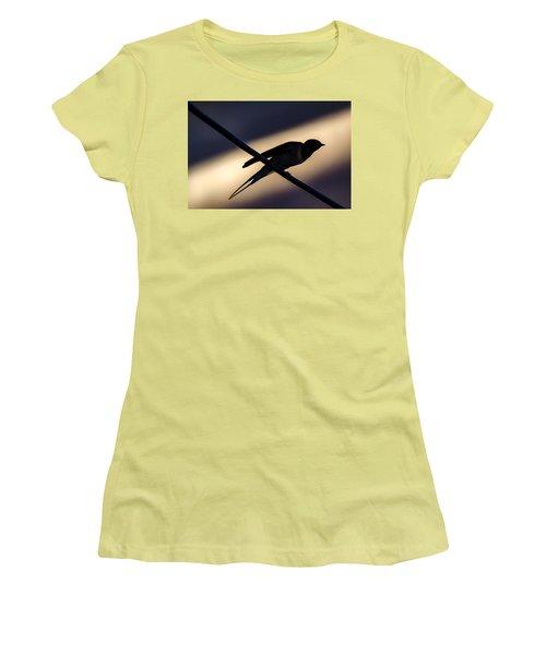 Swallow Speed Women's T-Shirt (Junior Cut) by Rainer Kersten