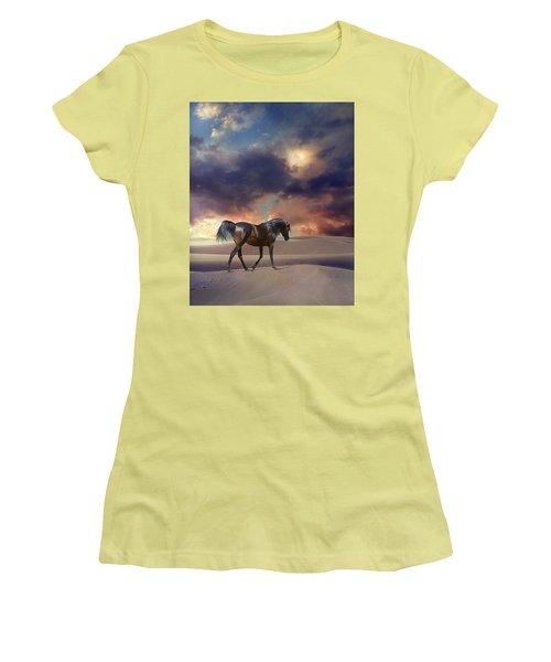 Swan Of Desert Women's T-Shirt (Junior Cut) by Dorota Kudyba