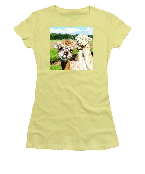 The Soft Joy Of Apacas Women's T-Shirt (Athletic Fit)