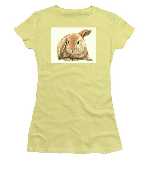 Sweet Bunny Women's T-Shirt (Junior Cut) by Heidi Kriel