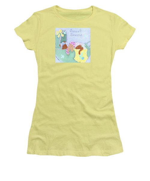 Sweet Dreams Women's T-Shirt (Junior Cut) by Tracy Campbell