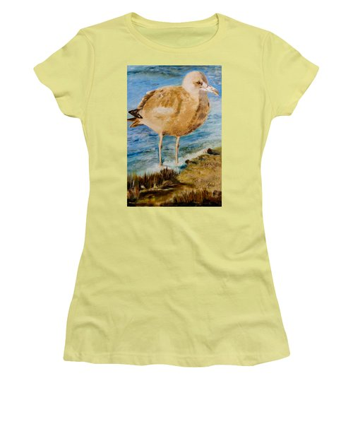 Sweet Gull Chick Women's T-Shirt (Athletic Fit)
