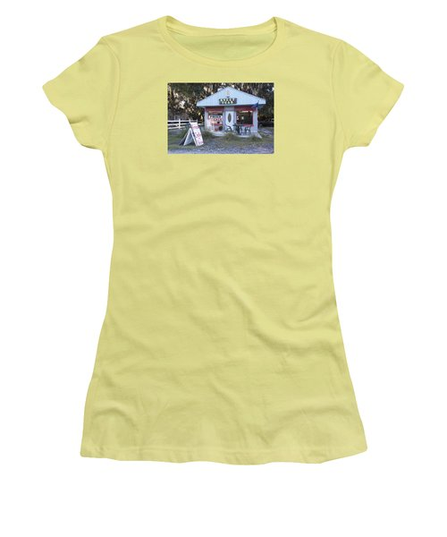 Sweet Teas And Fried Chicken Women's T-Shirt (Junior Cut) by Suzanne Gaff