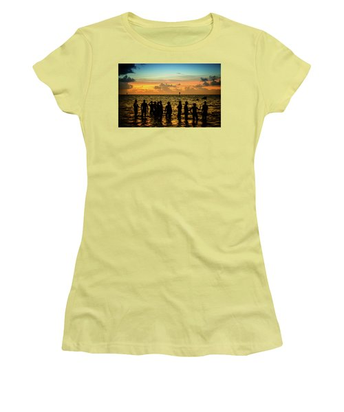 Swimmers Sunrise Women's T-Shirt (Athletic Fit)