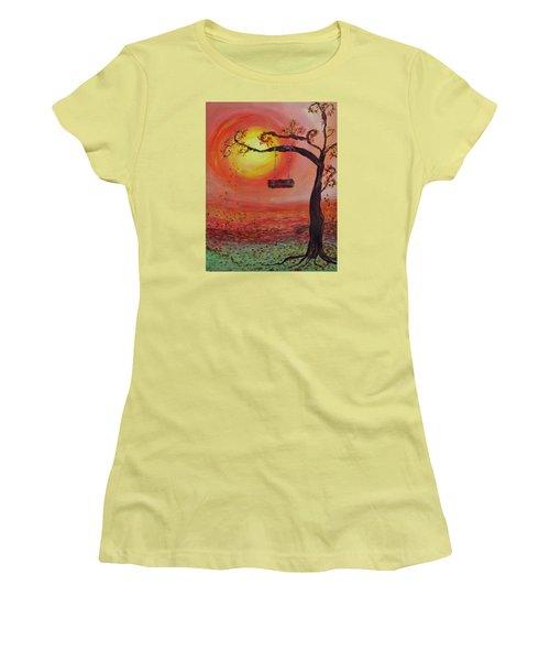 Swing Into Autumn Women's T-Shirt (Junior Cut) by Barbara McDevitt