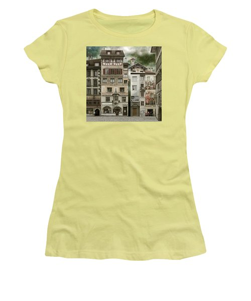 Swiss Reconstruction Women's T-Shirt (Junior Cut) by Joan Ladendorf