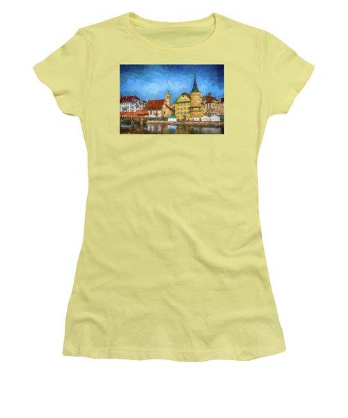 Swiss Town Women's T-Shirt (Junior Cut) by Pravine Chester