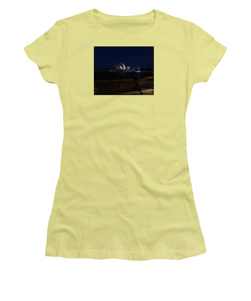 Sydney Opera House At Night Women's T-Shirt (Junior Cut) by Bev Conover