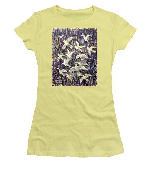 Symbol  Of Peace Women's T-Shirt (Junior Cut) by Laila Awad Jamaleldin