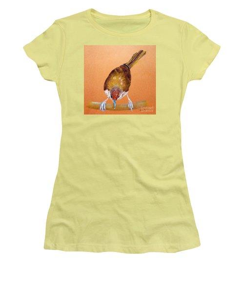 Tailor Bird Women's T-Shirt (Junior Cut) by Jasna Dragun