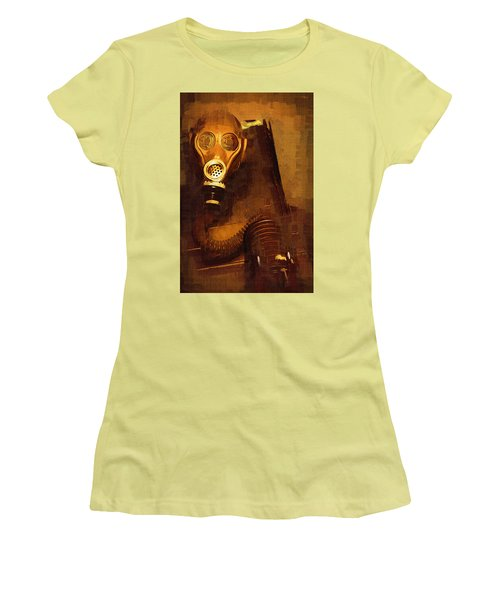 Women's T-Shirt (Junior Cut) featuring the painting Tainted by Holly Ethan