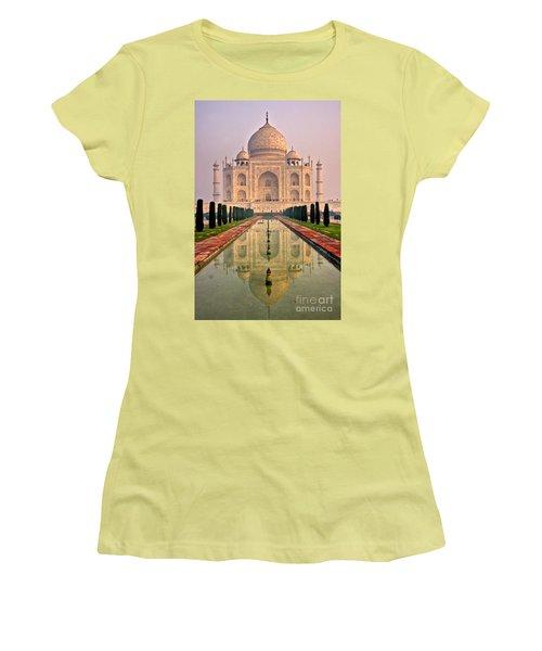 Taj Mahal At Sunrise Women's T-Shirt (Junior Cut) by Luciano Mortula