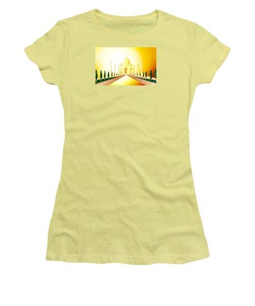 Taj  Mahal Women's T-Shirt (Junior Cut) by Hartmut Jager