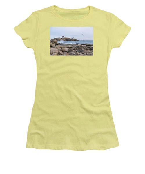 Tale Of Two Lighthouse Women's T-Shirt (Junior Cut) by Patrick Fennell