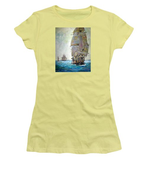 Tall Ships 2 Women's T-Shirt (Athletic Fit)