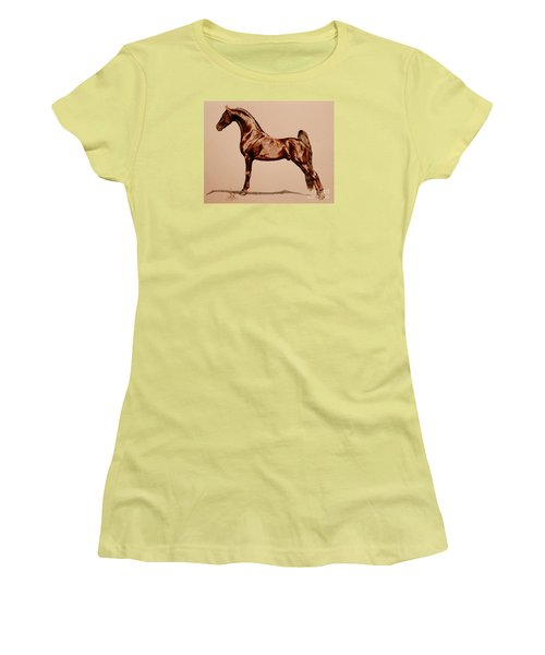 Tangos Daylight - Saddlebred Stallion Women's T-Shirt (Athletic Fit)