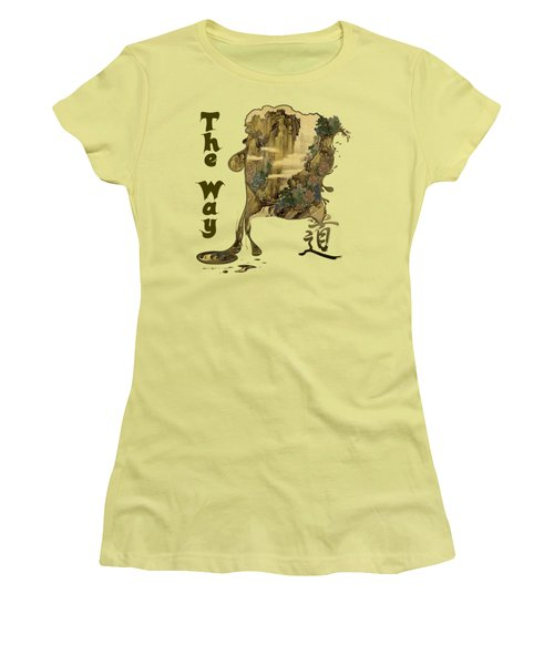 Women's T-Shirt (Athletic Fit) featuring the painting Tani Buncho Chi by Robert G Kernodle