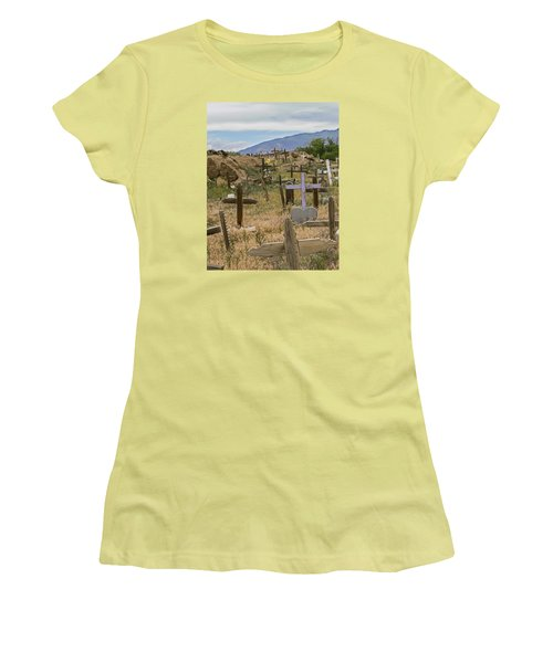 Taos Pueblo Cemetery Women's T-Shirt (Athletic Fit)