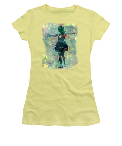 Tap Dancer 2 - Green Women's T-Shirt (Athletic Fit)
