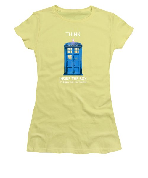 Tardis - Think Inside The Box Women's T-Shirt (Athletic Fit)