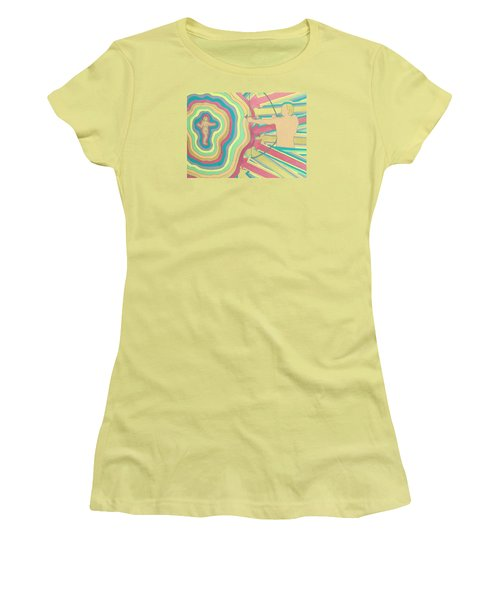 Women's T-Shirt (Junior Cut) featuring the painting Target by Erika Chamberlin