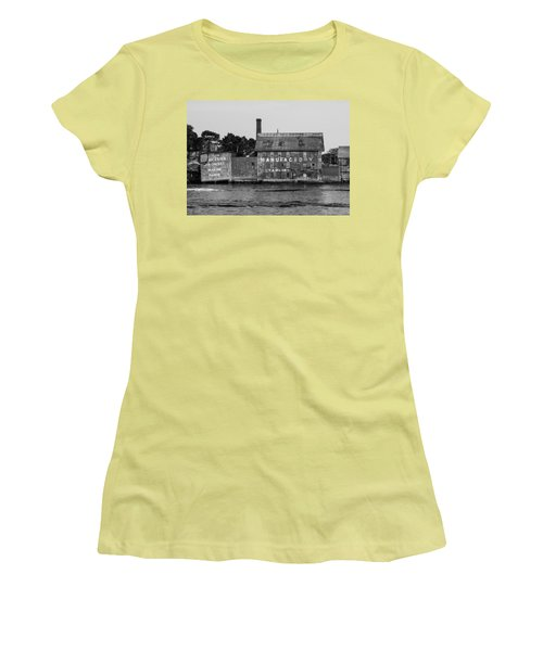Tarr And Wonson Paint Manufactory In Black And White Women's T-Shirt (Junior Cut) by Brian MacLean