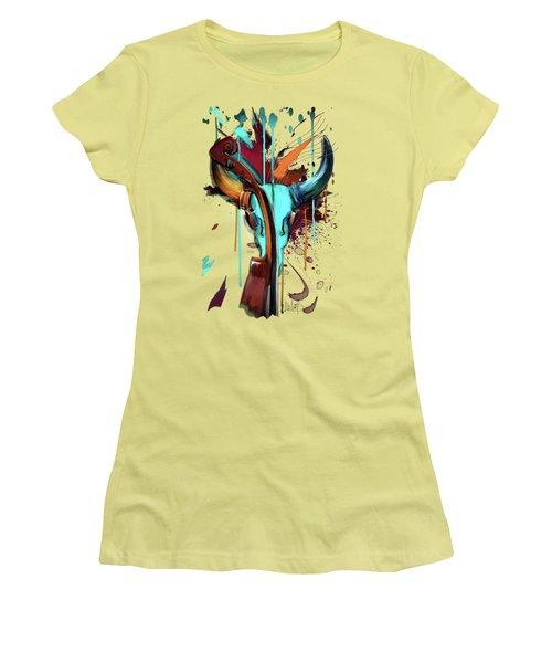 Taurus Women's T-Shirt (Junior Cut) by Melanie D