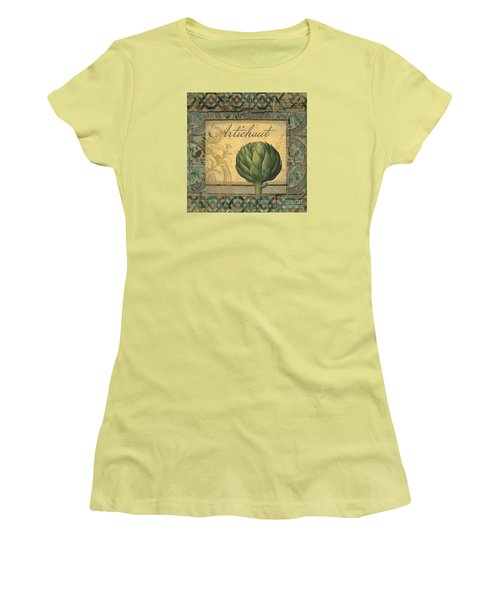 Tavolo, Italian Table, Artichoke Women's T-Shirt (Athletic Fit)
