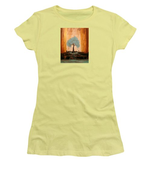 Teal Turquoise Tree Women's T-Shirt (Athletic Fit)