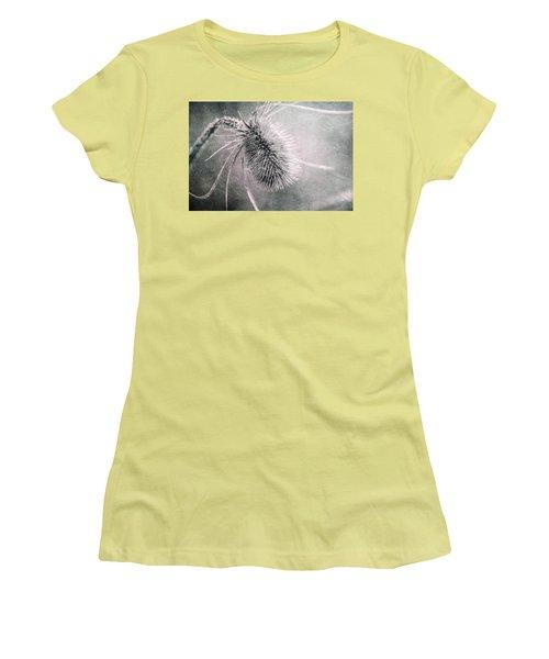 Women's T-Shirt (Junior Cut) featuring the photograph Teazel Weed by Tom Mc Nemar