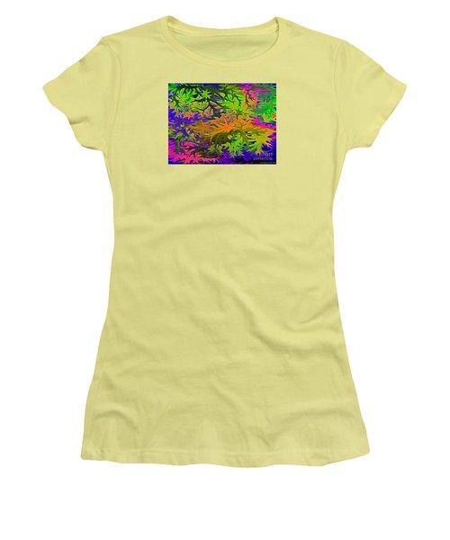 Technicolor Leaves Women's T-Shirt (Junior Cut) by Patricia Griffin Brett