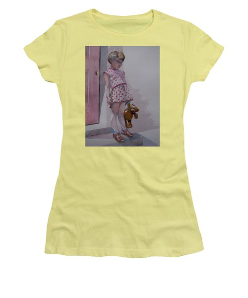 Teddy Women's T-Shirt (Junior Cut) by Ray Agius