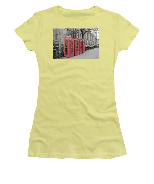 Telephone Boxes Women's T-Shirt (Athletic Fit)