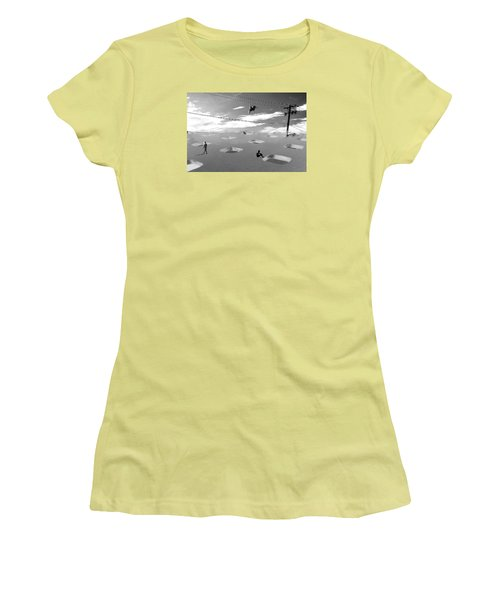 Women's T-Shirt (Junior Cut) featuring the photograph Telephone Line by Christopher Woods