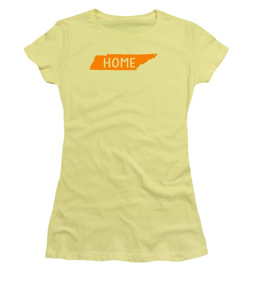 Women's T-Shirt (Junior Cut) featuring the digital art Tennessee Home Orange by Heather Applegate