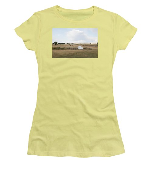 Tents At Fort Laramie National Historic Site In Goshen County Women's T-Shirt (Junior Cut) by Carol M Highsmith