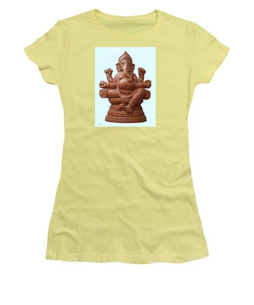 Terra - Cotta Ganapati Women's T-Shirt (Athletic Fit)