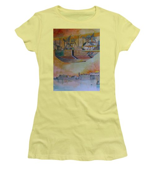 Test Flight Women's T-Shirt (Junior Cut) by Ray Agius