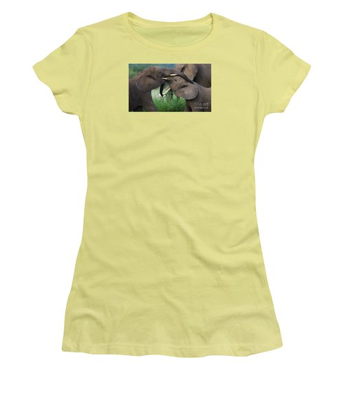 Test Of Strength-signed Women's T-Shirt (Junior Cut) by J L Woody Wooden