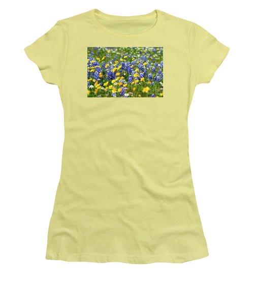 Texas Blue Bonnet  Women's T-Shirt (Athletic Fit)