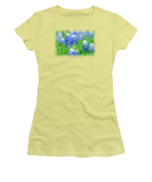 Texas Bluebonnet T-shirt Women's T-Shirt (Athletic Fit)