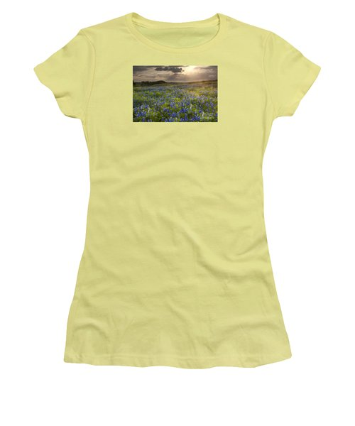 Texas Bluebonnets At Sunrise Women's T-Shirt (Athletic Fit)
