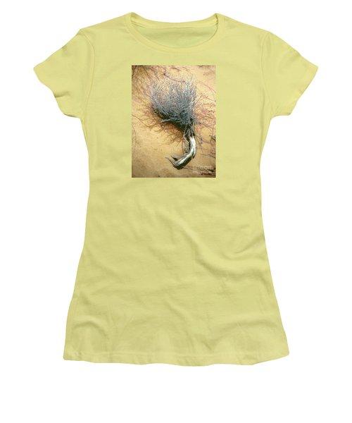 Women's T-Shirt (Junior Cut) featuring the photograph Texas Tumbleweed by Merton Allen
