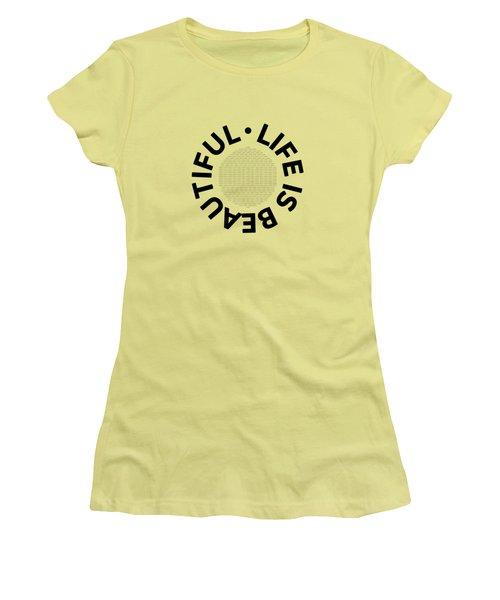 Text Art Life Is Beautiful - Carpe Diem Women's T-Shirt (Athletic Fit)