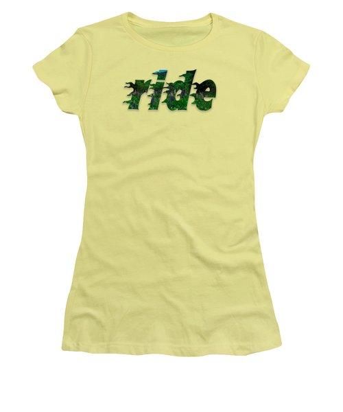 Text Lupen Ride Women's T-Shirt (Junior Cut) by Mim White