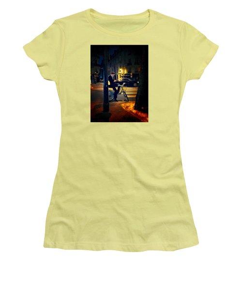Texting Women's T-Shirt (Junior Cut) by John Rivera