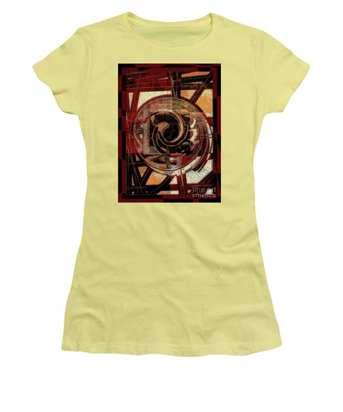 Textured Abstract Women's T-Shirt (Athletic Fit)