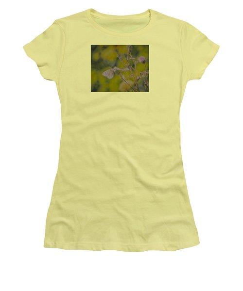 Textured Butterfly 1   Women's T-Shirt (Junior Cut) by Leif Sohlman