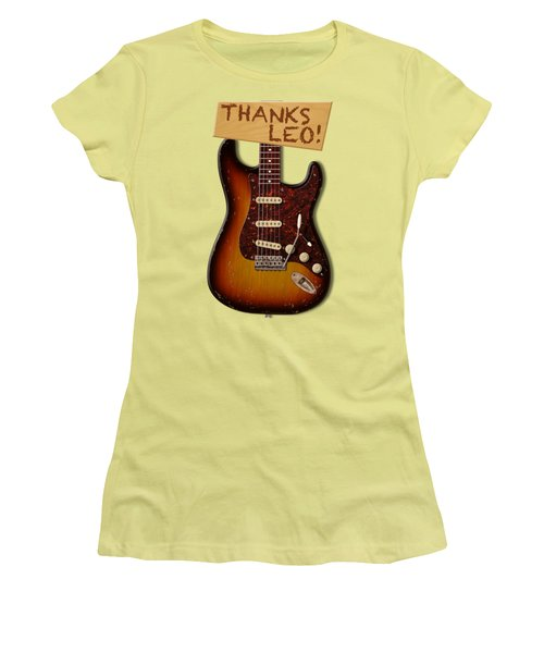 Thanks Leo Strat Shirt Women's T-Shirt (Athletic Fit)